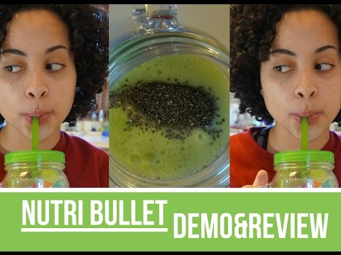 Nutri Bullet Recipe Demo & Review ( Green Drink )