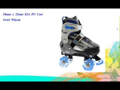 Typhoon Adjustable Roller Skates  Blue Size Large