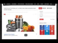 Video Magic Bullet NutriBullet 12-Piece High-Speed Blender/Mixer S Review