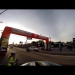 LA Marathon. THE  GoPro exact moment when men pass the women elite runners. ASCIS 3/15/15 GSGPICS