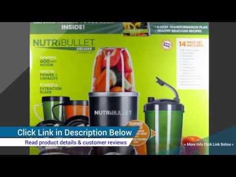 Nutribullet 600 Watt Juicer --- 16 Piece Set Includes Nutri Bullet Blender Recipie Bo Reviews