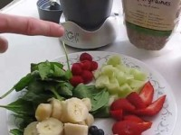 NutriBullet juice recipe with fruits, nuts and vegetables