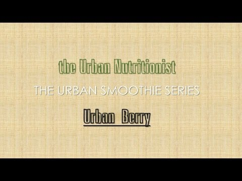 Urban Berry - The Urban Nutritionist Smoothies